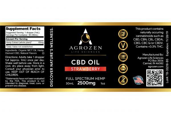 Full Spectrum 2500mg CBD Oil